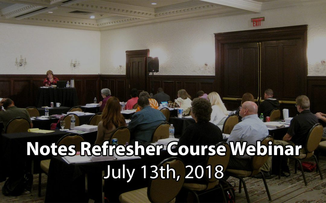 TAKE NOTE! Note Buying Refresher Webinar Livestream – July 2018