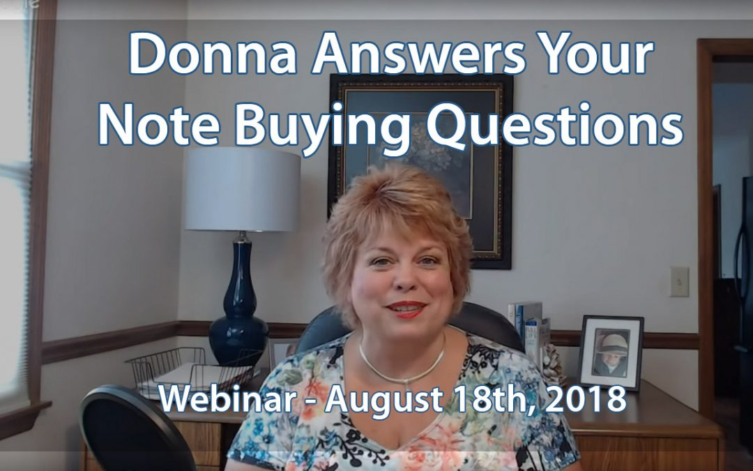 TAKE NOTE! Questions and Answers Webinar, August 18, 2018