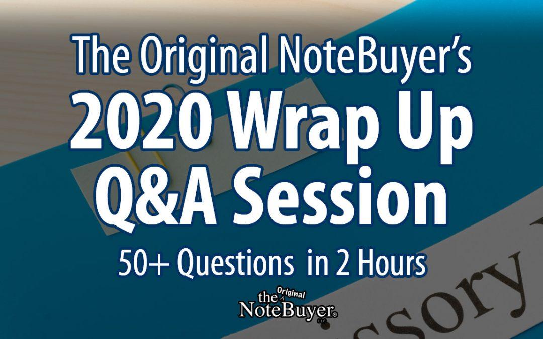 2020 Wrap Up Q&A Session